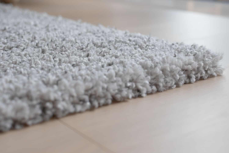 Grey carpet on the floor